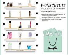 Douglas Wunschtüte Gewinnspiel – gewinne täglich 4 Beauty-Produkte Deiner Wahl!