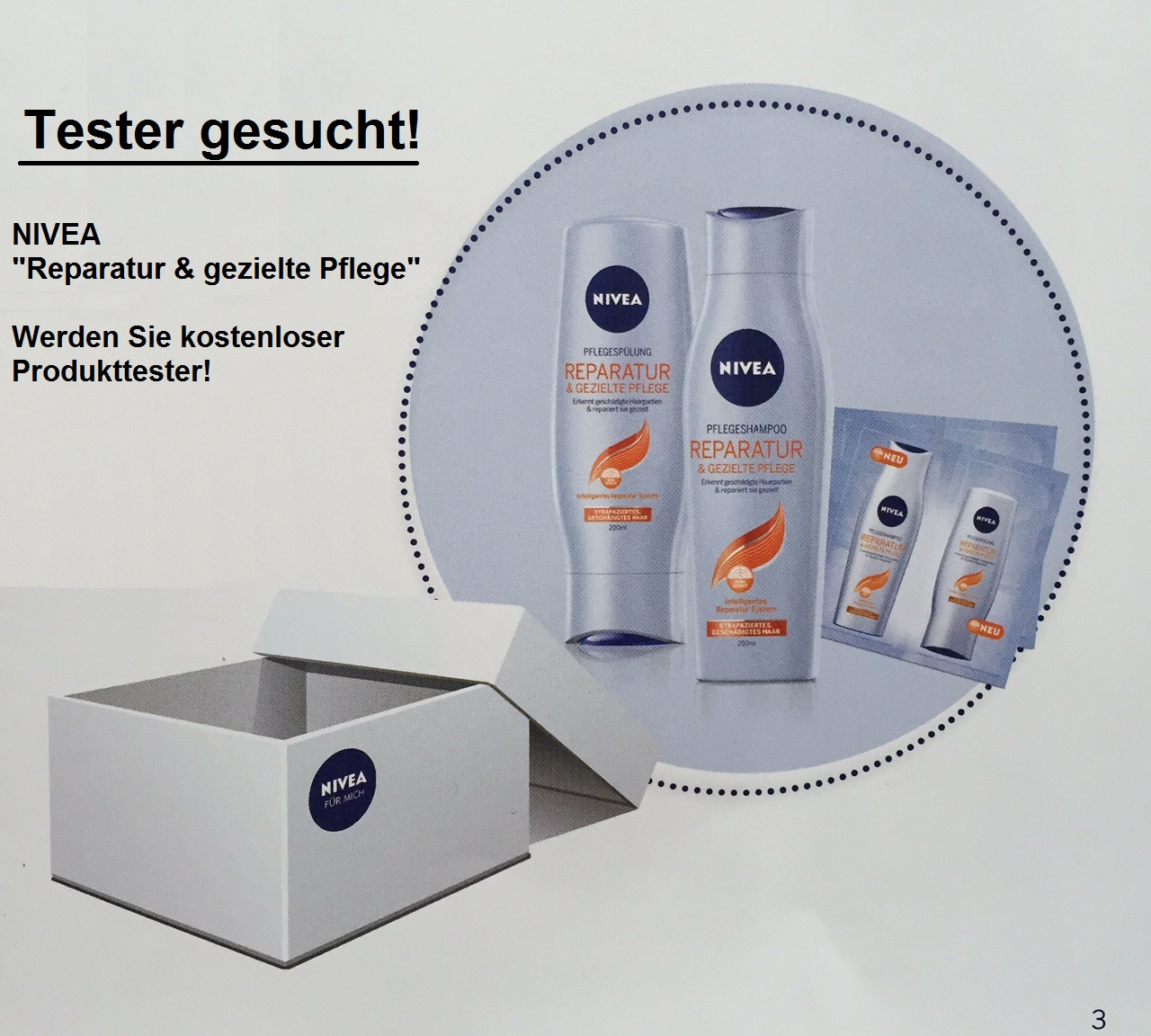 nivea botschafter aktion mittester gesucht. Black Bedroom Furniture Sets. Home Design Ideas